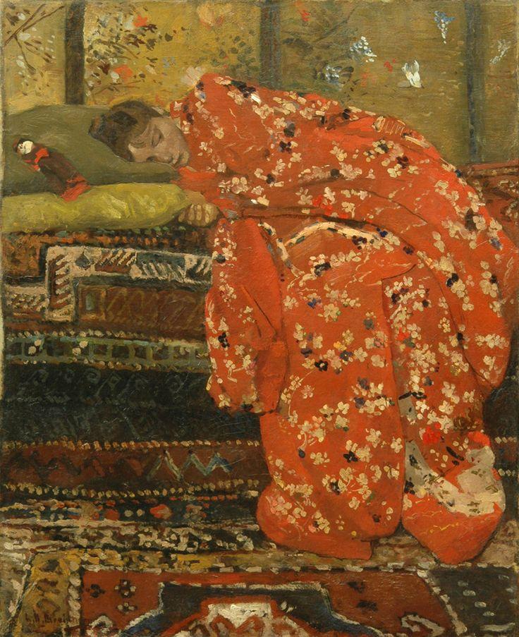 George Hendrik Breitner, Meisje in rode kimono, 1895. Olieverf op doek, 60,3 x 49,5 cm. Collectie Rose-Marie en Eijk de Mol van Otterloo. Foto Studio Redivivus