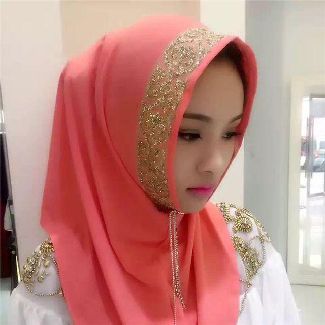 7 Style Muslim Hijab Scarf Women Turban Hijabs Bandana Plain Headscarf Shawl Islamic Solid Plain Viscose Foulard Ladies Scarves
