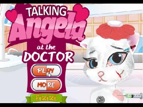 Игры для детей Говорящая Анжела у доктора (Talking Angela at doctor) играть онлайн https://youtu.be/7oRtAC1pyko
