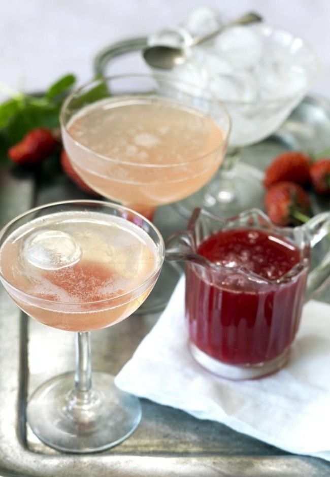 Rhubarb cocktail  Photography by Jane Ussher