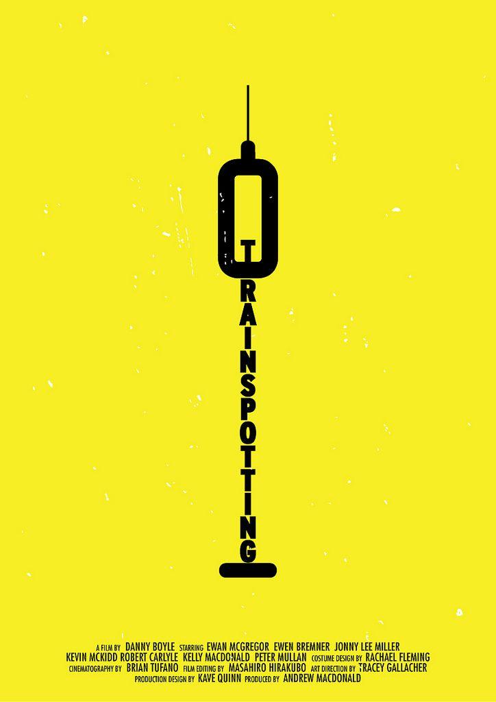 Trainspotting minimalist movie poster