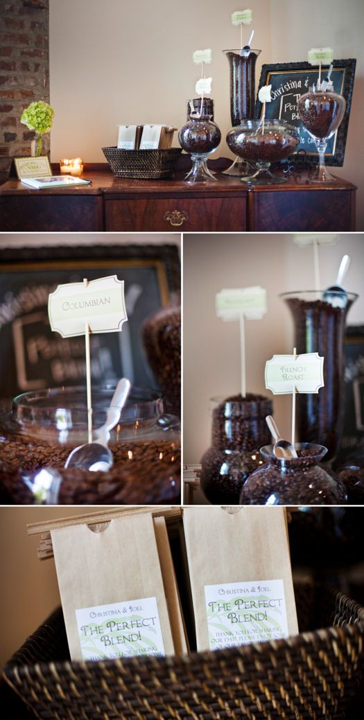 wedding coffee bar -- need to incorporate this into my wedding since it all started because of a cup of coffee :)