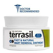 Terrasil® Wart Removal MAX - Safe for Sensitive Skin, Dr. Recommended, 100% Guaranteed, All-natural, Pain-free, Acid-free, Patented Treatment for common warts, facial warts, genital warts, anal warts, and flat warts, 44g