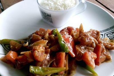 la cuisine tahitienne poisson cru à la grecque ( de tahiti