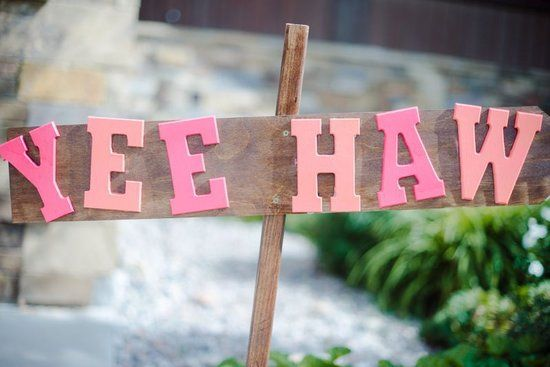Yee Haw Sign - Country and Western Bridal Shower Ideas
