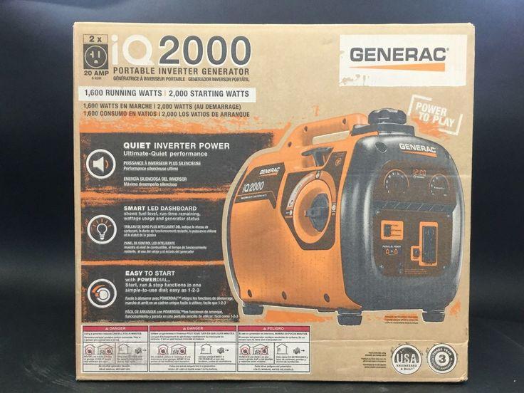 Generac iQ2000 2000W Ultra Quiet Gas Powered Inverter Portable Generator NEW