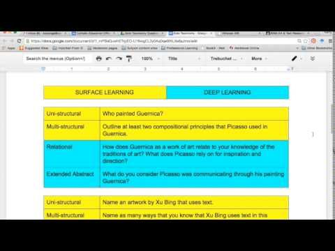 Using the learning strategies of Solo Taxonomy Year 11 students begin to apply knowledge at both Surface and Deep. Reference to how this strategy can be used...