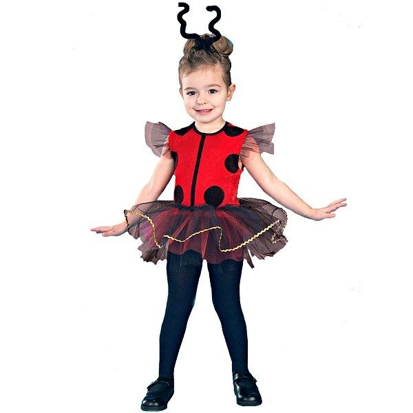 Your heart will flutter when you catch a glimpse of your little one in the Lil' Lady Bug Toddler Costume.