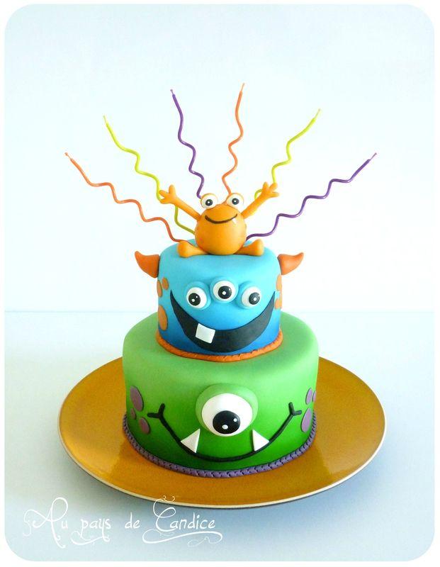 Gâteau Monstres rigolos (carambar et chocolat)