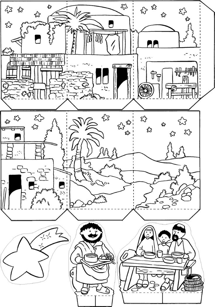 613 best Nacimientos images on Pinterest Nativity sets, Xmas and - copy nativity scene animals coloring pages