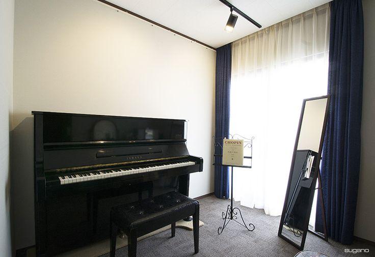 4.5帖の音楽室。防音仕様です!# 和風住宅 #住宅 #ピアノ室 #音楽室 #家づくり #防音室 #設計事務所 #菅野企画設計