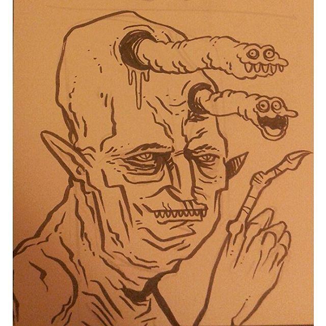 """Mental Floss""  #kenny_poppins #ink #sketchbook #dailydoodle  #strange #creepy #worms"