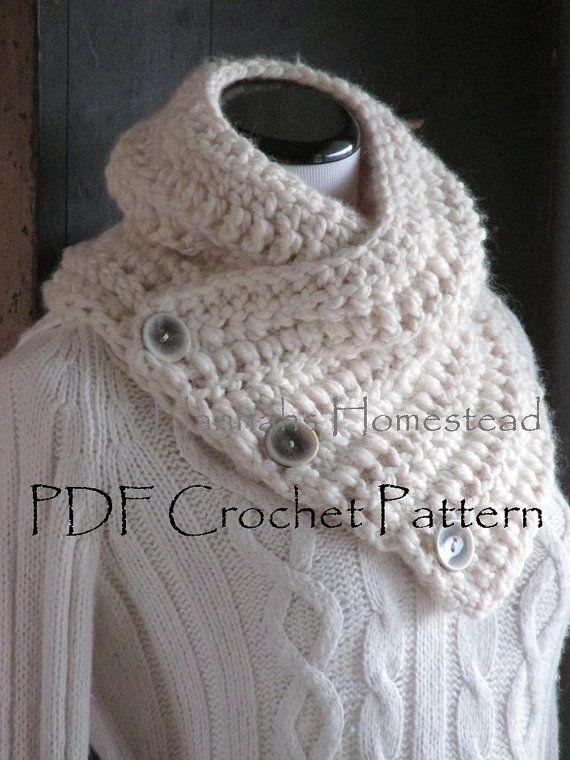 Fox Pointe Scarf Crochet Pattern, Instant Download PDF Pattern, Hannahs Homestead2