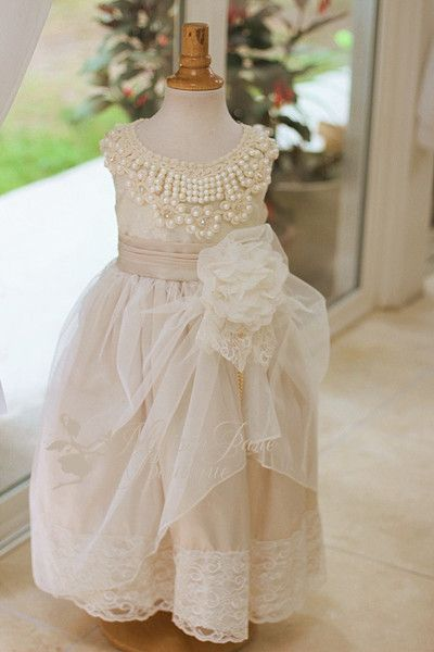 Ostrich Dress, Flower Girl Dress, Girls, Feather Dress, MelissaJane, MelissaJane Boutique - 1