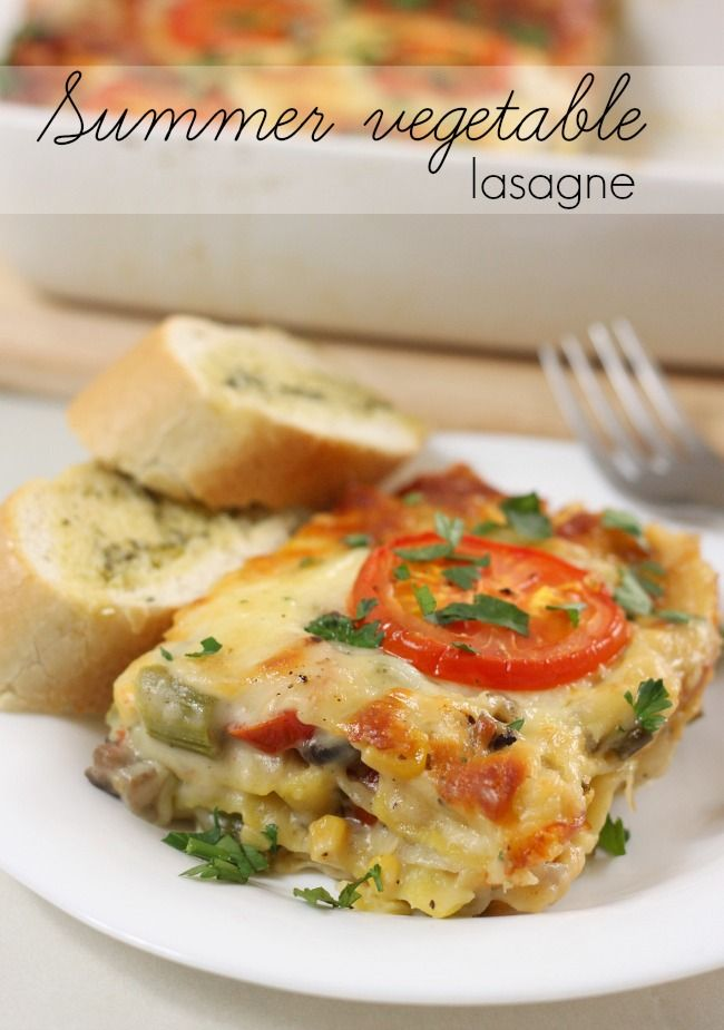 Summer vegetable lasagne - omgggg this is so good.