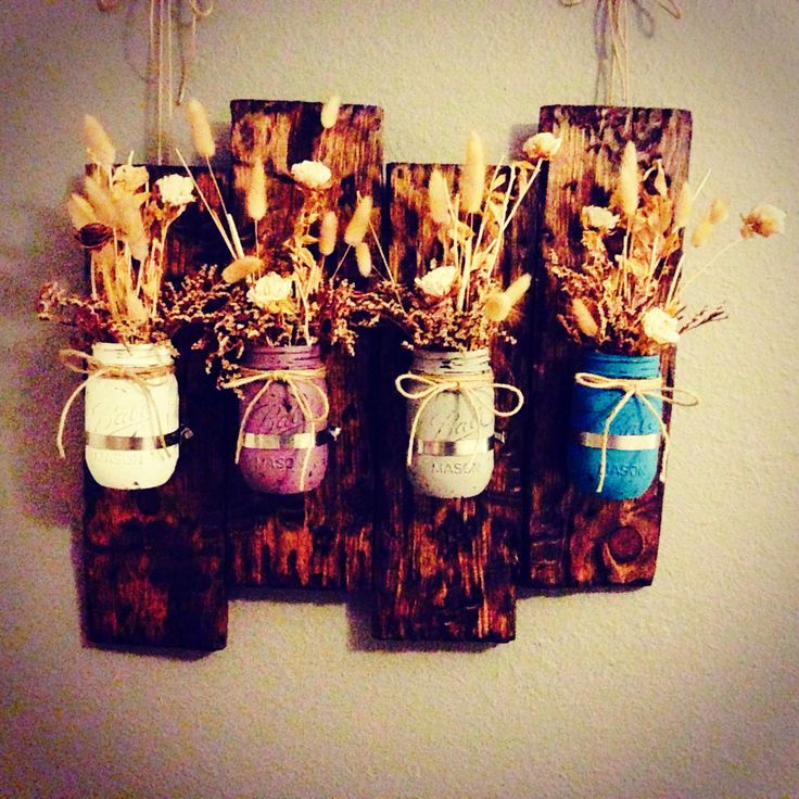 Mason Jar Wall Decor Pinterest : Mason jar wall decor diy