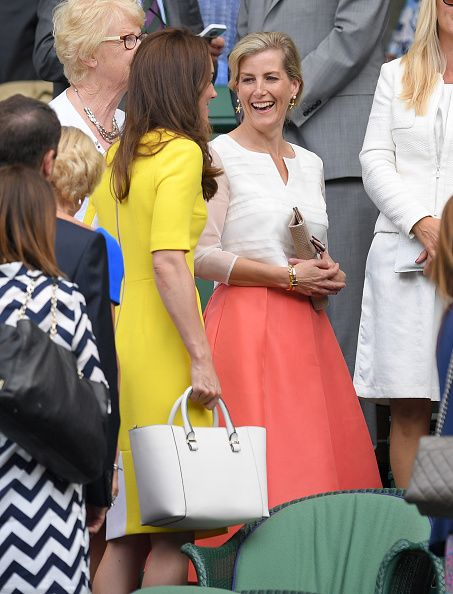 Royal Family Around the World: Catherine, Duchess of Cambridge and Sophie, Countess of Wessex Attends Day Ten: The Championships - Wimbledon 2016 on July 7, 2016 in London, England.