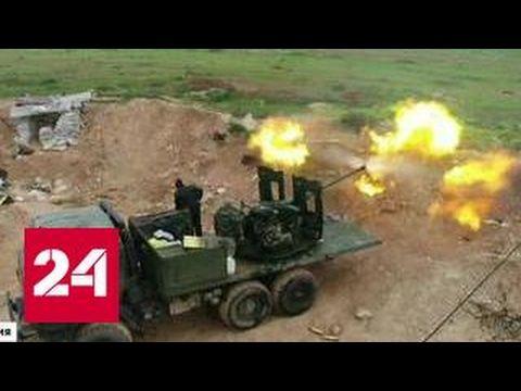 Наступление на Хальфая: боевики бегут, бросая оружие - YouTube