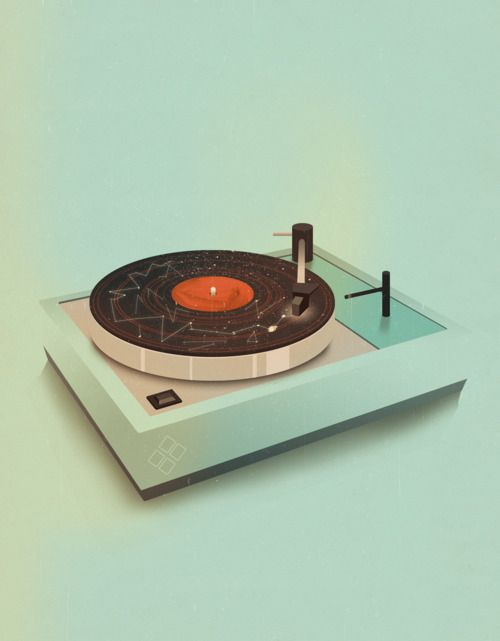 jackmrhughes:    Pick Me Up // Turntable    I was at this years Pick Me Up at Somerset House as part of my illustration agency YCN. I had three prints for sale, they can still be purchased through the YCN shop.        I am loving everything that Jack Hughes is doing these days.