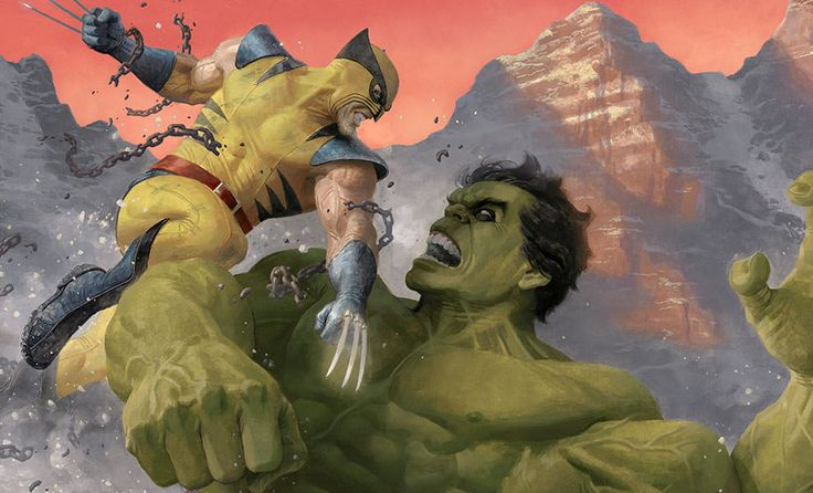 The Hulk and Wolverine 'First Appearance' Variant Art Print by Paolo Rivera is available at Sideshow.com for fans of Marvel Comics, Avengers and X-men