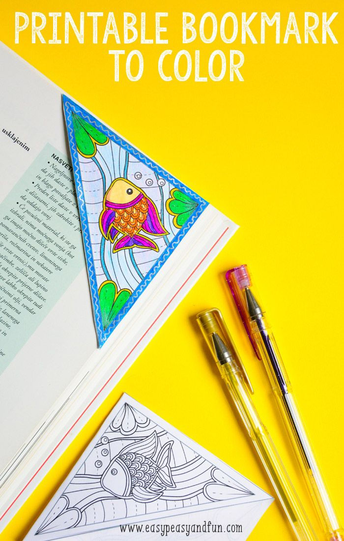 Sea Corner Bookmark to Color
