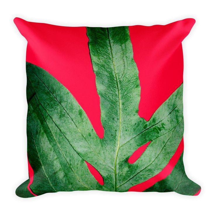A pink red and green holiday personal favorite from my Etsy shop https://www.etsy.com/listing/567144469/cool-pink-christmas-fern-square-pillow | Home Decor Art Fashion designs by @ANoelleJay @etsy