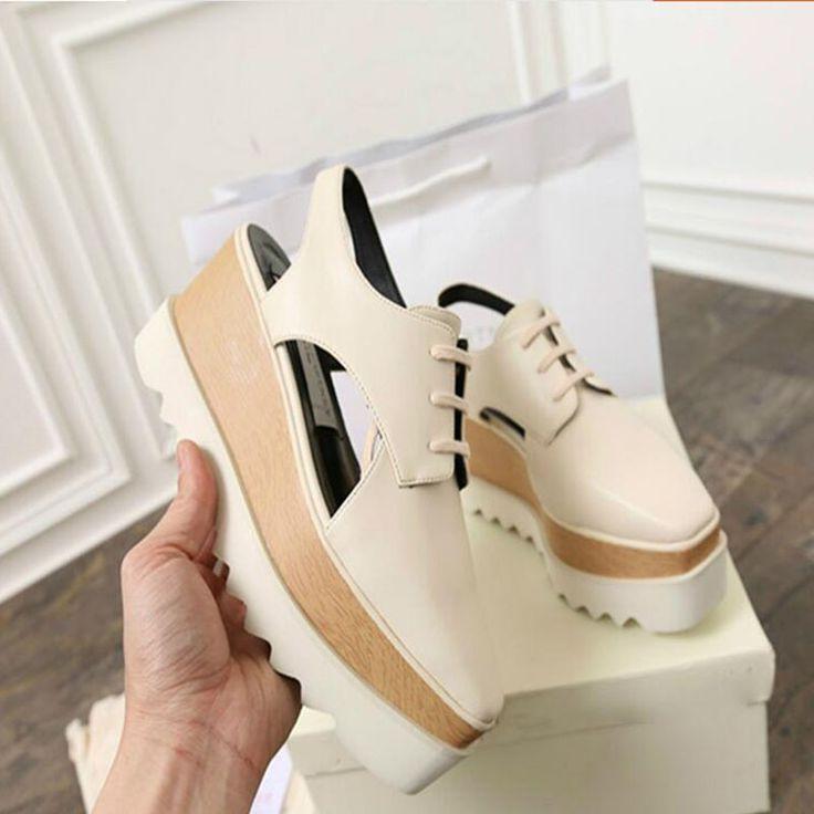 Women Sandals 2017 Summer New Open Toe Fish Head Fashion platform High Heels ladies  Wedge Sandals female shoes genuine leather