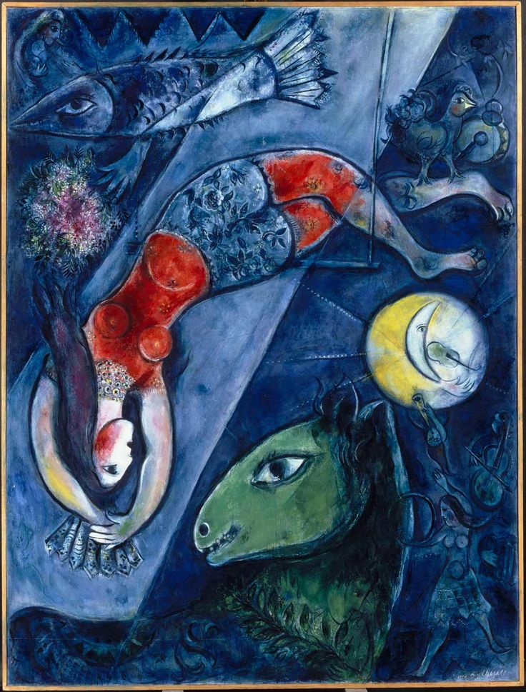 Marc Chagall ~  Blue Circus,
