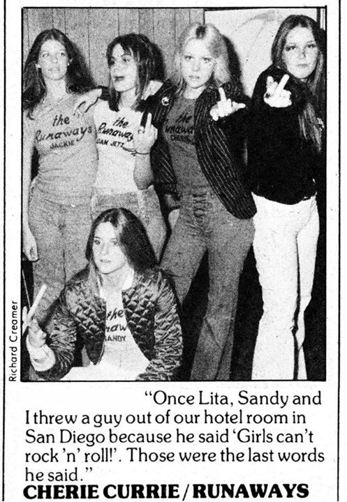 The Runaways (Cherie Currie, Joan Jett, Lita Ford)