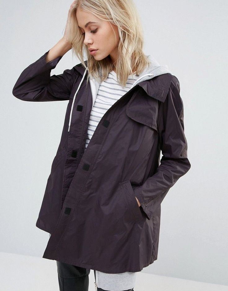 Get this Cooper & Stollbrand's raincoat now! Click for more details. Worldwide shipping. Cooper & Stollbrand A-Line Paddington Mac - Blue: Coat by Cooper Stollbrand, Smooth woven fabric, Adhesive-front fastening, A-line design, Functional pockets, Regular fit - true to size, Wipe with a damp cloth, 100% Polyamide, Our model wears a UK 8/EU 36/US 4 and is 168 cm/5'6 tall. (impermeable, chubasquero, chubasqueros, impermeable, raincoat, wasserundurchlässig, impermeable, imperméable…