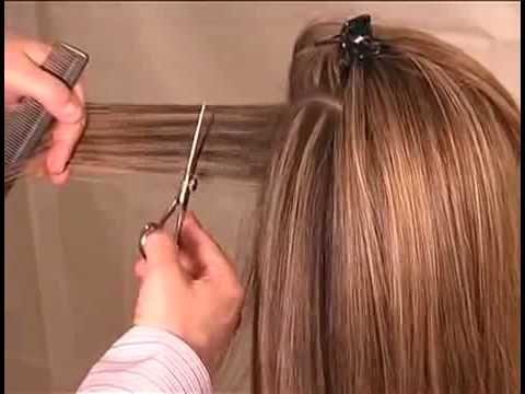 Hair Cutting Technique & How to cut Long Graduated Haircut 2-2.flv