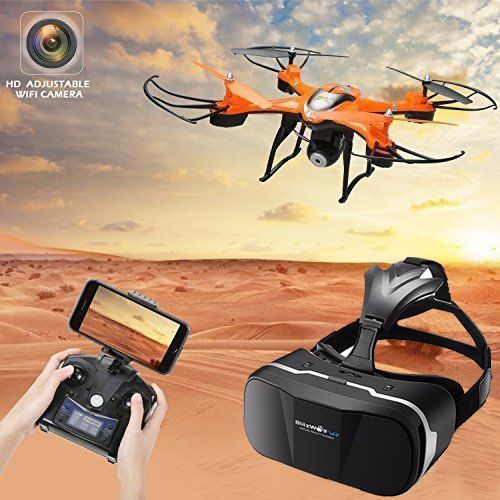 NEW Camera Drone HD Real Time Video & Virtual Reality Headset RTF Altitude Hold  #HS