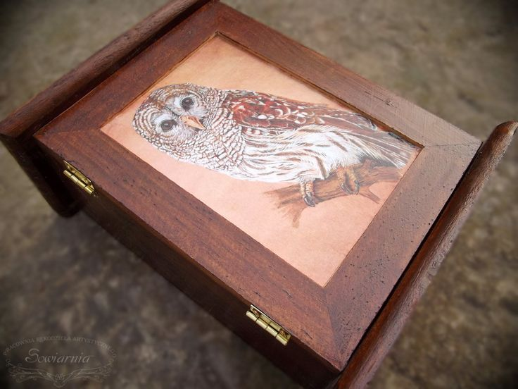 Key box with vintage owl