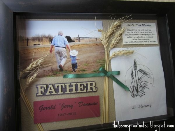 shadow boxes for funerals | Here is the shadow box memorial that I made for her in honor of her ...