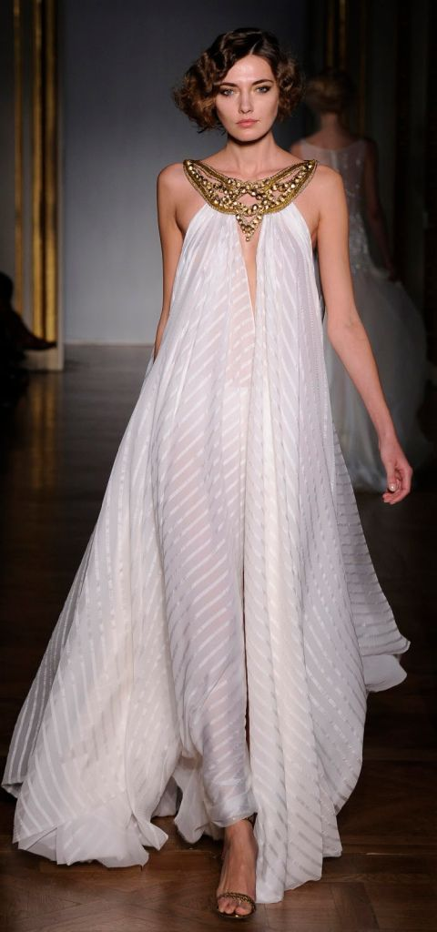 Dilek Hanif 2011 Couture – White 'Cleopatra' style evening dress
