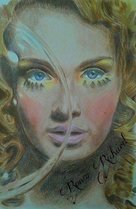 Színes ceruzás portré - Rónai Richárd