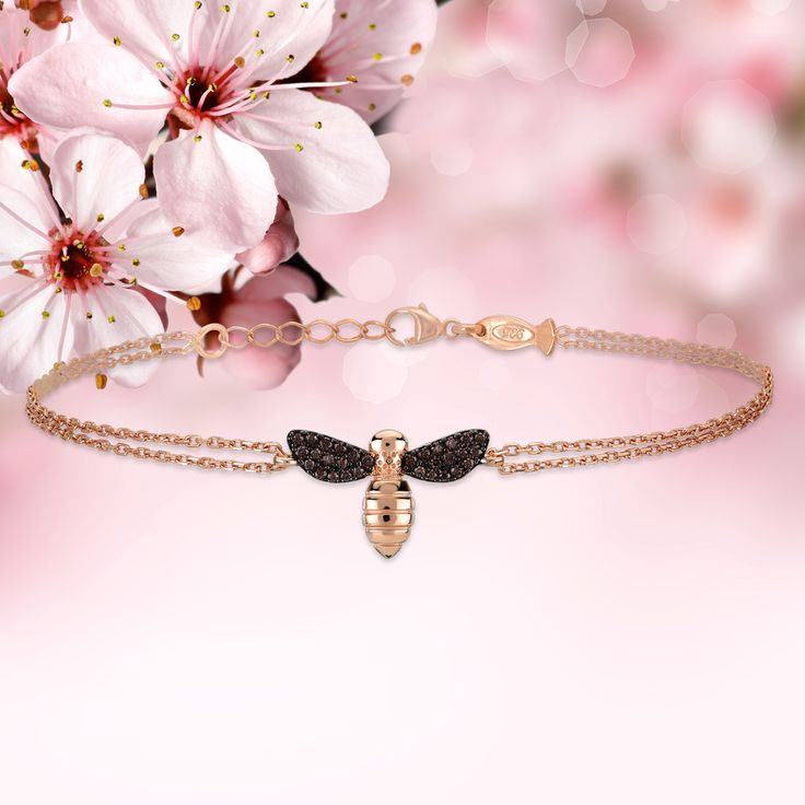 Feel the spring liveliness with Kurshuni   Bee  symbolize good luck in love         #kurshuni #springjewelry #bees #honeybee #spring #flowering #flowers #beeflover #springflowers #fashion  #braclets #braclet #silverjewellery #silverbracelet