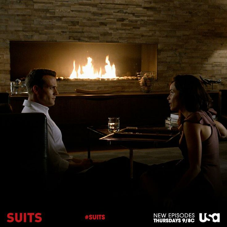 Harvey Specter's Modern fireplace is stunning.   Modern ...