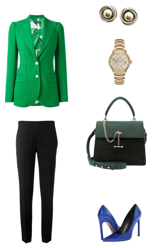 """Деловой стиль"" by makra ❤ liked on Polyvore featuring Chloé, Stuart Weitzman, Luana, Dolce&Gabbana and Burberry"