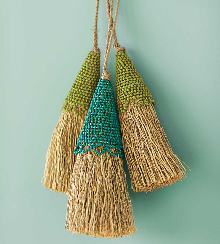 Wood Bead Vetiver Tassels