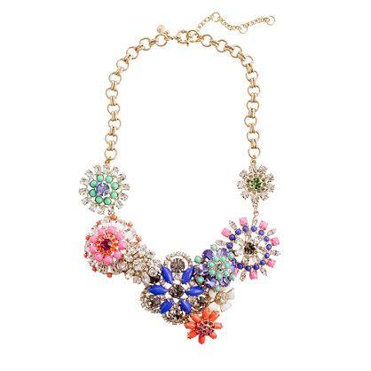 Flower necklace: J Crew Necklace, Necklaces Jcrew, Flowers Lattices, Color, Outfit, Jcrew Flowers, Flowers Necklaces, J Crew Flowers, Flower Necklace