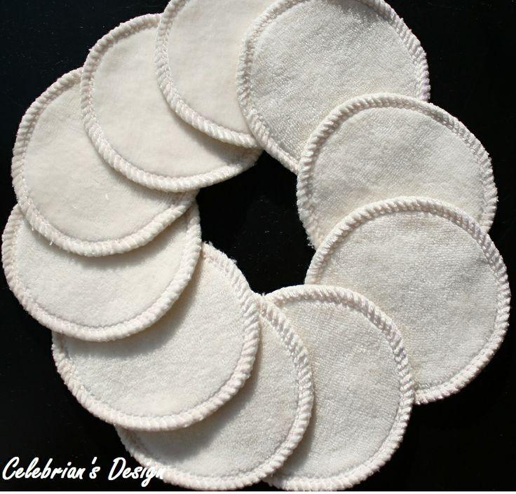 Vaskbare bambuspads brukes til alt du ville brukt bomullspads til. Gjenbrukbare som vaskes i vaskenett i vaskemaskin.