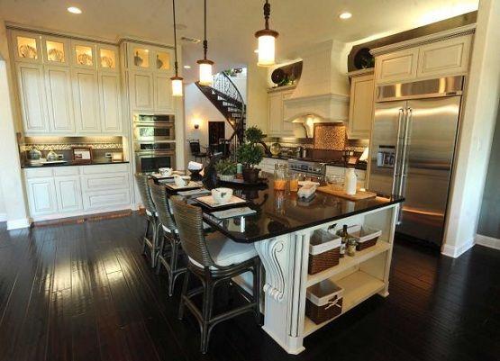 dark wood floors kitchen pictures | Bathroom Floor Plan Inspiration for Your Small Bathroom | Flooring ...