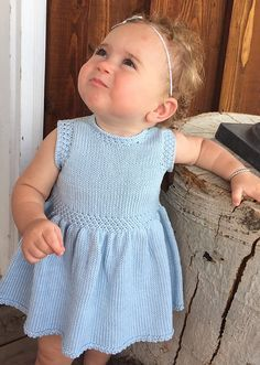 This pattern is fairly quick knit, as baby clothes generally are. This dress is knitted flat and seamed.