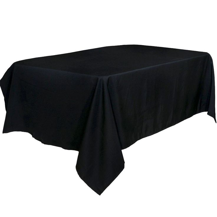 60 x 126-Inch - Black Tablecloth - 100% Polyester Rectangular Table Cover - By Utopia Kitchen