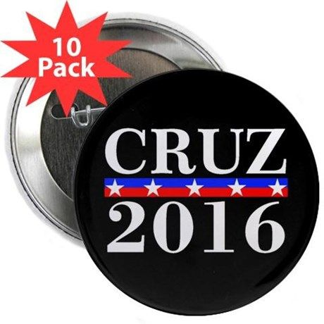 "Ted Cruz President 2016 2.25"" Button (10 pack) on CafePress.com"