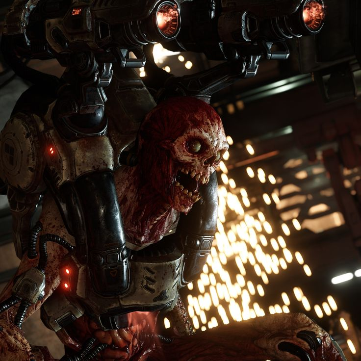 DOOM 2016 - in game screenshot