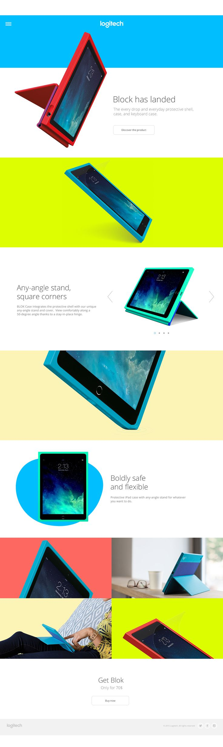 Logitech - Website concept on Behance