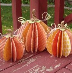 Fall Decorating Ideas Paper pumpkins  Pinned for Kidfolio, the parenting mobile app kidfol.io