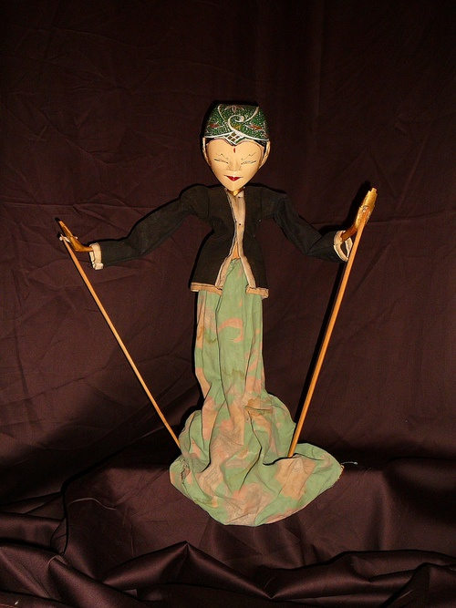 Antique Wayang Golek - Rod Puppet From Java (by Good Golly, Miss Mollie)